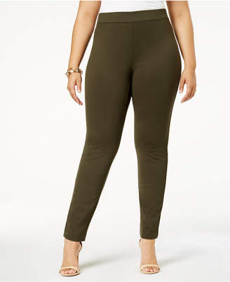 INC International Concepts I.N.C. Plus Size Skinny Pull-On Ponte Pants, Created for Macy's