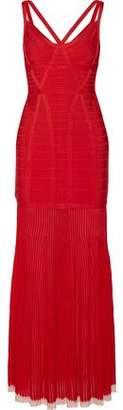 Herve Leger Zhenya Cutout Bandage Gown