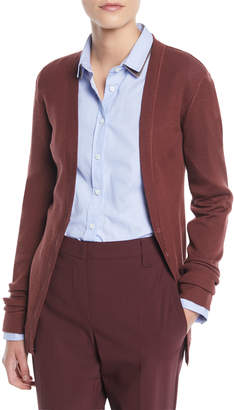 Brunello Cucinelli Button-Front Wool-Cashmere Ribbed Cardigan