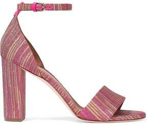 M Missoni Metallic Crochet-Knit Sandals