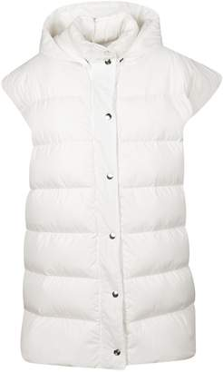 MSGM Hooded Button Padded Gilet