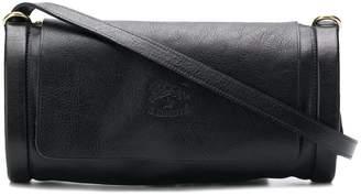 Il Bisonte logo embossed cross-body bag