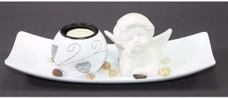 WPYST Pure White Angel Tabletop Sand Candle Stand Holder Peace / Cupid Home Decor Gift