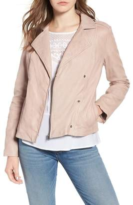 Hinge Feminine Leather Moto Jacket