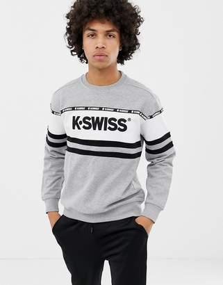 K-Swiss Fresno Panel Sweatshirt In Gray