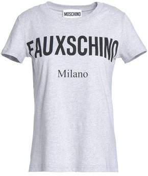 Moschino (モスキーノ) - Moschino Mélange Printed Cotton-Jersey T-Shirt