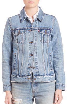 Levi's Boyfriend Denim Trucker Jacket $98 thestylecure.com