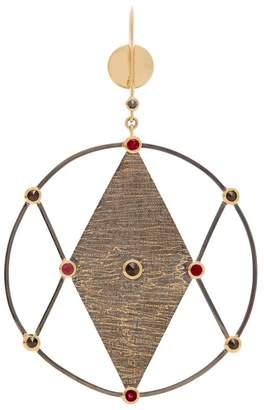 Kate Moss ARA VARTANIAN X diamond, ruby & gold earring