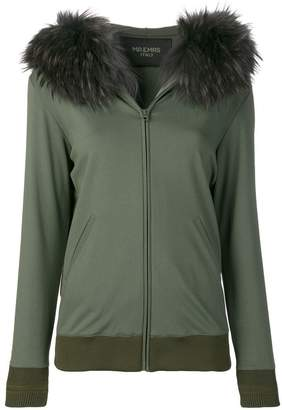 Mr & Mrs Italy fur-trim zipped hoodie