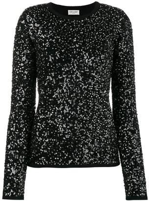 Saint Laurent sequin embellished jumper