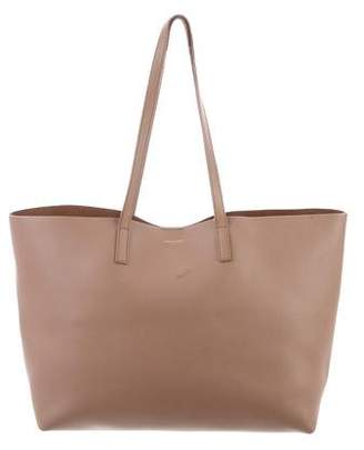 Saint Laurent Leather Shopper Tote