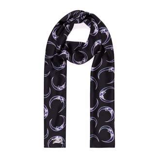 Coleman Louise Man-in-the-moon Silk Skinny Scarf