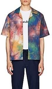 Leon AIMÉ DORE Men's Leisure Tie-Dyed Cotton Shirt