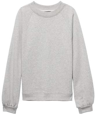 Banana Republic Petite French Terry Balloon-Sleeve Couture Sweatshirt