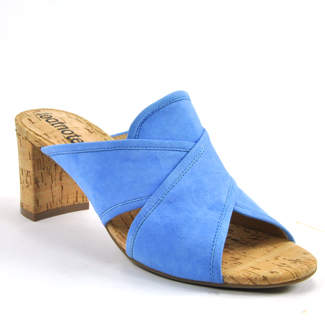 Footnotes Ming - Suede Cork Heel Slide