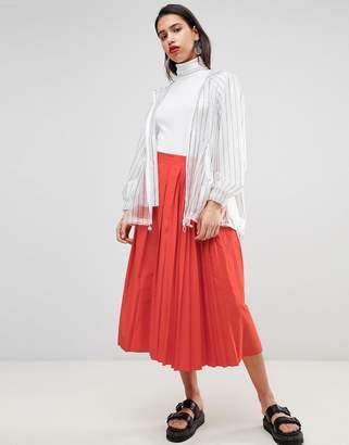 Sportmax CODE Code High Waisted Midi Skirt