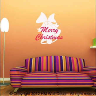 Bell and Merry Christmas Wall Art Decal