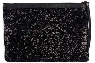 Dolce   Gabbana Sequin-Embellished Star Zip Clutch 2dfa47a258c07