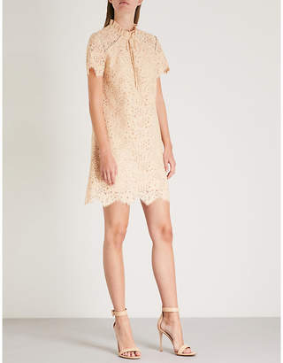 Sandro Embellished lace mini dress