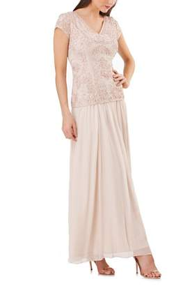JS Collections Soutache Applique Gown