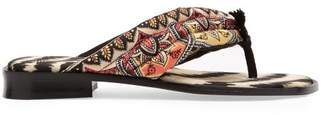 Etro Paisley Flip Flops - Womens - Multi