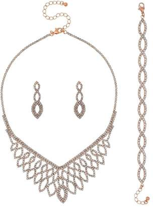 Jon Richard Jewellery Rose Gold Diamante Jewellery Set