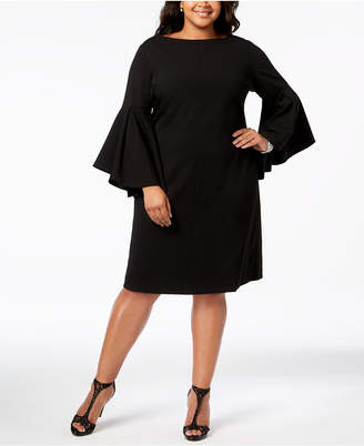 Betsey Johnson Plus Size Bell-Sleeve Sheath Dress
