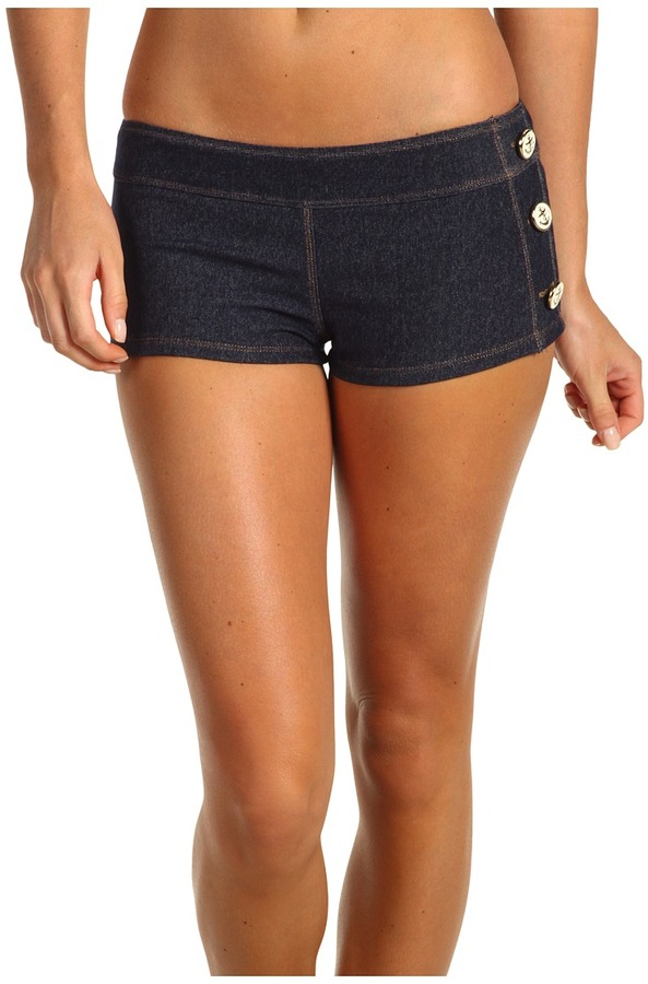 Juicy Couture Cover Up Shorts (Denim) - Apparel
