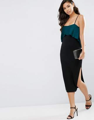ASOS Satin Mix Bodycon Midi Cami Dress $58 thestylecure.com