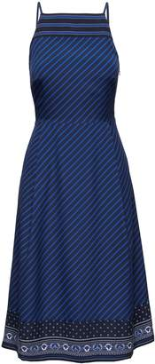 Banana Republic Mixed-Print Strappy Fit-and-Flare Dress