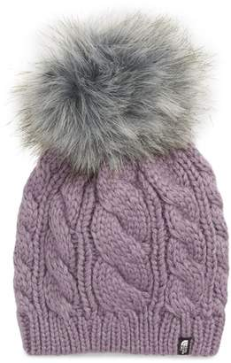 The North Face Oh-Mega Faux Fur Pom Beanie