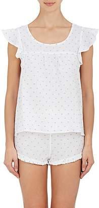 The Sleep Shirt Women's Linen Fil Coupé Pajama Set