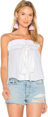 MLM Label Sahara Tie Top in White $143 thestylecure.com