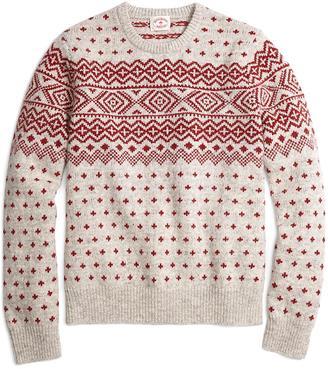 Geometric Fair Isle Crewneck Sweater $128 thestylecure.com