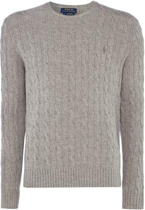 Polo Ralph Lauren Men's Cashmere wool cable with polo player