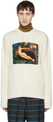 Kenzo White Printed Memento Sweater