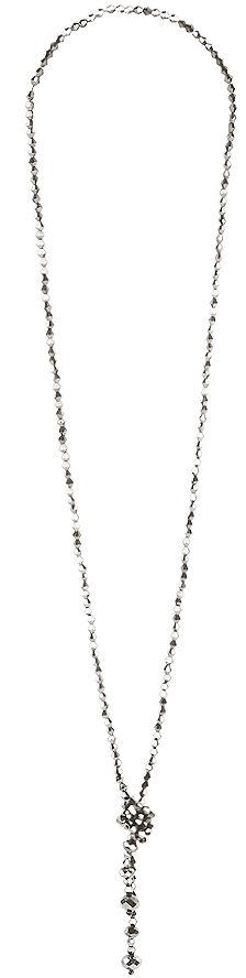 Metallic Bead Knot Necklace