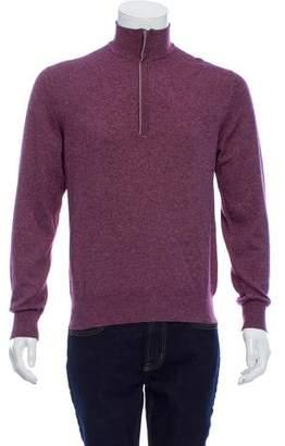 Loro Piana Silk & Cashmere-Blend Zip-Up Sweater