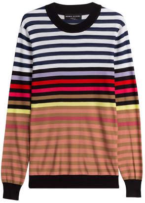 Sonia Rykiel Silk-Cotton Striped Pullover