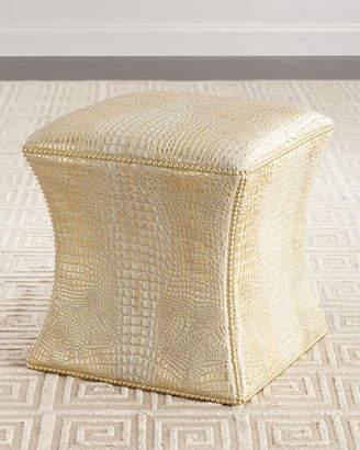 Bernhardt Roscoe Leather Ottoman