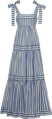 Zimmermann Verity Striped Cotton-Voile Maxi Dress