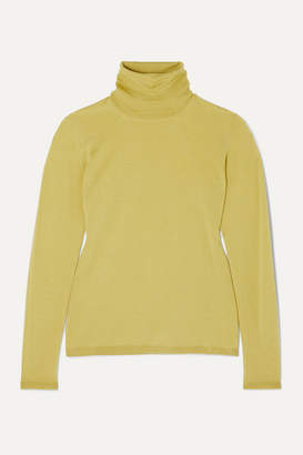 Max Mara Wool Turtleneck Sweater - Yellow