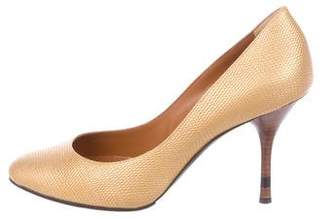 Fendi Metallic Lizard Pumps