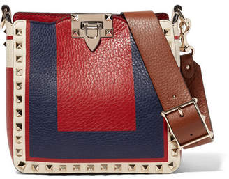Valentino Garavani The Rockstud Hobo Mini Textured-leather Shoulder Bag