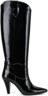 Zeynep Arcay Patent Leather Knee High Boots in Black | FWRD
