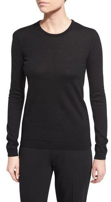 Ralph Lauren Collection Long-Sleeve Cashmere Crewneck Sweater, Black $187 thestylecure.com