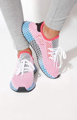 adidas Women's Red Deerupt Runner Sneakers