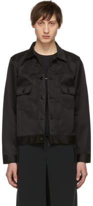 Fumito Ganryu Black Water-Resistant Pleated Jacket