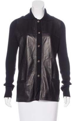 Loro Piana Cashmere Leather-Paneled Jacket