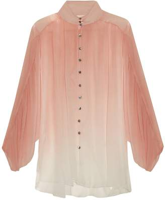 Zimmermann Chroma ombré silk-georgette blouse